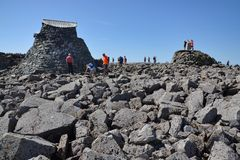 People on the Ben Nevis summit Royalty Free Stock Photo