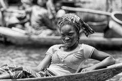 People in Benin, in black and white Stock Photos