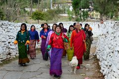 People of Bhutan Royalty Free Stock Images