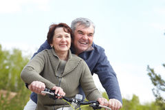 People on bicycles Royalty Free Stock Photography
