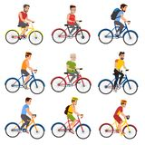 People on bicycles stock illustration