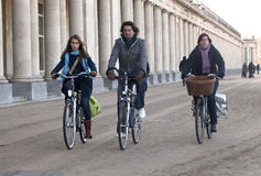 People on bicycles, Ostend, Belgium Stock Images