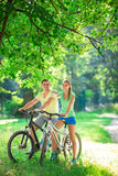 People on bicycles Stock Photo