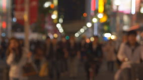 People in big city stock video footage