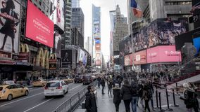 People in the big city o New York. Some states of the Newyokers, and some building view from a tourist Stock Photography