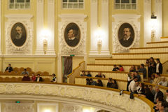 People at Big Concert Hall of Moscow Conservatory Stock Photography