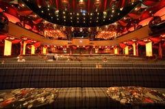 People in big illuminated hall of Costa Deliziosa Stock Image