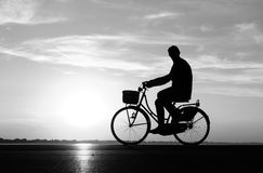 People with bike Stock Image