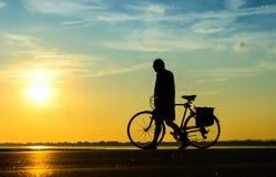 People with bike Stock Photo