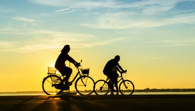 People with bike Royalty Free Stock Image
