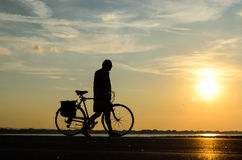 People with bike Royalty Free Stock Photography