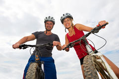 People on bikes Stock Images