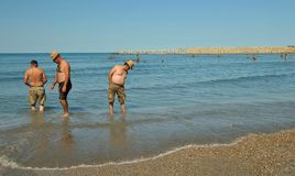 People at Black sea in Constanta , Romania Royalty Free Stock Photography