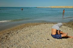 People at Black sea in Constanta , Romania Stock Images