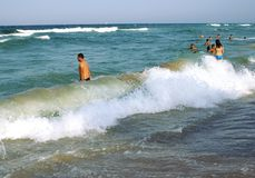 People at the Black Sea Royalty Free Stock Image