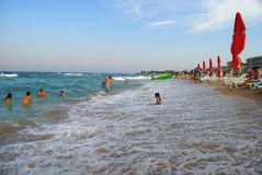 People at the Black Sea Royalty Free Stock Photos