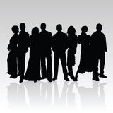 People black  silhouette Stock Photos