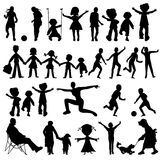 People black silhouettes Stock Photo
