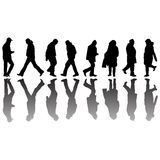 People black silhouettes 2 royalty free illustration