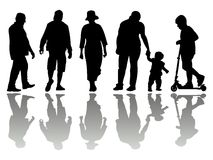 People black silhouettes 4 Royalty Free Stock Photos