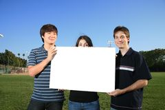 People blank sign Royalty Free Stock Images