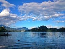 People at Bled Lake Royalty Free Stock Photo