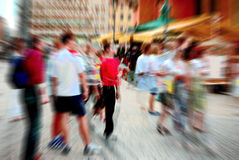 People in blur. Photograph of the people in blur Royalty Free Stock Photography