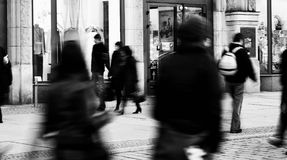 People blurred Royalty Free Stock Photo