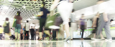 People in blurred motion Royalty Free Stock Photo