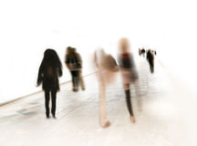 People in blurred motion Royalty Free Stock Photos