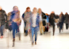People in blurred motion Stock Images