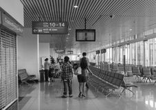 People at Boarding Gate in Tan Son Nhat Airport, Saigon, Vietnam Royalty Free Stock Photos