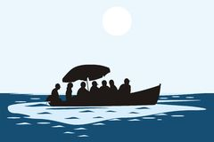 People on the boat Royalty Free Stock Photo