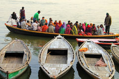 People on boat in India Royalty Free Stock Image