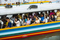 People in the boat at the river Mae Stock Image