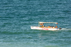 People Boat Trip On The Black Sea Stock Photo