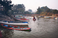 People boating in Raval Lake Stock Images
