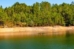 People, boating on river. kayaking. royalty free stock photos