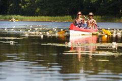 People boating on river Stock Photos