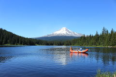 People boating Trillium Lake Stock Photos