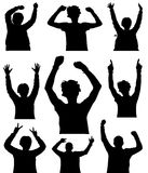 People Body Part 2. Various poses for a party, celebration or a concert Royalty Free Stock Photos