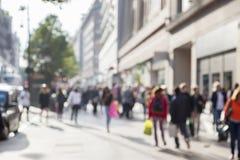 People in bokeh, London Stock Photography