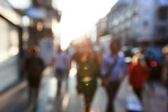 People in bokeh, street Royalty Free Stock Photography