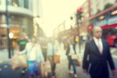 People in bokeh, street Royalty Free Stock Photo