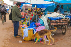 People in Bolivia market Stock Photography