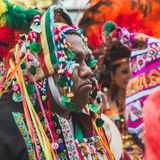 People from Bolivia in their traditional clothing at Expo 2015 i Royalty Free Stock Images