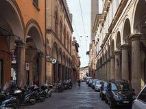 People in Bologna city centre