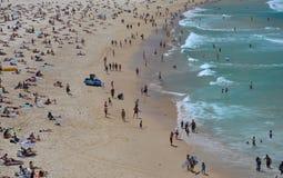 People on Bondi beach royalty free stock photos