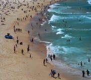 People on Bondi beach stock image