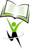 People book reading logo Royalty Free Stock Image